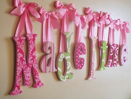 Letras para decorar tu habitaci n loca por las compras - Ideas para decorar letras de madera ...